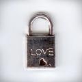 """Подвеска металлическая """"Замок Love"""" , размер 20x11x3 мм, цвет античное серебро"""