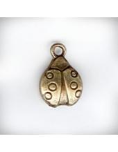"""Подвеска металлическая """"Божья коровка"""", 10x15x4 мм, цвет античная бронза"""