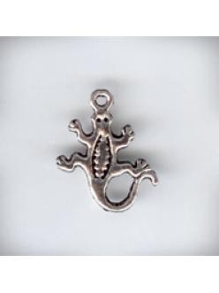 """Подвеска металлическая """"Ящерица"""" , размер 15x18x2 мм, цвет античное серебро"""
