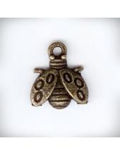 """Подвеска металлическая """"Божья коровка"""",11x14x2 мм, цвет античная бронза"""