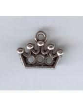 """Подвеска металлическая """"Корона"""" , размер 14x12x2 мм, цвет античное серебро"""