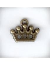 """Подвеска металлическая """"Корона"""" , размер 14x12x2 мм, цвет античная бронза"""