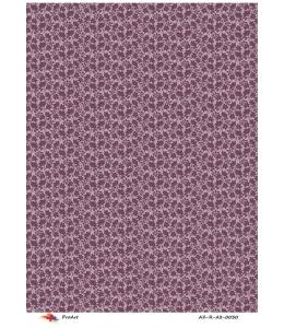 """Рисовая бумага R-A3-0030 """"Цветочный фон, бордовый"""", формат А3, ProArt (Россия)"""
