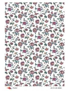 """Рисовая бумага R-A3-0032 """"Цветочный орнамент"""", формат А3, ProArt (Россия)"""