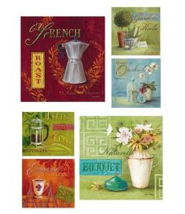 """Рисовая бумага R-A3-0049 """"Кофе и цветы"""", формат А3, ProArt (Россия)"""