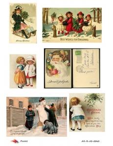 """Рисовая бумага R-A3-0063 """"Рождество и дети"""", формат А3, ProArt (Россия)"""