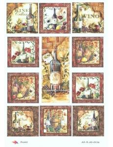 """Рисовая бумага R-A3-0116 """"Вино, плитка"""", формат А3, ProArt (Россия)"""