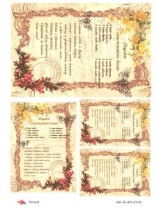 "Рисовая бумага R-A3-0141 ""Рецепт счастливого дома"", формат А3, ProArt (Россия)"