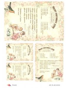 "Рисовая бумага R-A3-0142 ""Рецепт счастливого дома 2"", формат А3, ProArt (Россия)"