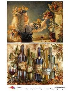 """Рисовая бумага R-A4-0046 """"Женщина и виноград"""", формат А4, ProArt (Россия)"""
