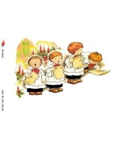 """Рисовая бумага R-A5-0112 """"Рождественский хор"""", формат А5, ProArt (Россия)"""