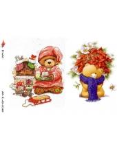 "Рисовая бумага R-A5-0120 ""Мишка с подарками"", формат А5, ProArt (Россия)"