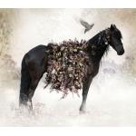 """Рисовая бумага R-A5-0454 """"Лошадь и цветы"""", формат А5, ProArt (Россия)"""