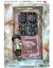 """Рисовая бумага R-A5-0948 """"Мальчик у двери"""", формат А5, ProArt (Россия)"""