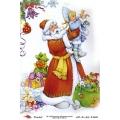 "Рисовая бумага R-A5-1162 ""Дед Мороз, Снегурочка и подарки"", формат А5, ProArt (Россия)"