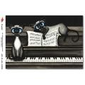 """Рисовая бумага R-A5-1226 """"Коты на рояле"""", формат А5, ProArt (Россия)"""