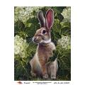 """Рисовая бумага R-A5-AZ-R-A5-1263 """"Кролик в саду"""", формат А5, ProArt (Россия)"""