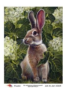 """Рисовая бумага R-A5-1263 """"Кролик в саду"""", формат А5, ProArt (Россия)"""