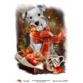 """Рисовая бумага R-A5-1305 """"Собака в шарфе"""", формат А5, ProArt (Россия)"""