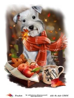Рисовая бумага для декупажа Собака в шарфе, формат А5, ProArt