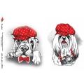 """Рисовая бумага R-A5-1321 """"Собака в кепке"""", формат А5, ProArt (Россия)"""