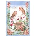 "Рисовая бумага NG-067 ""Рождество, птицы"", формат А5, Россия"