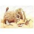 "Рисовая бумага P1-175 ""Птицы на песке"", формат А5, Россия"