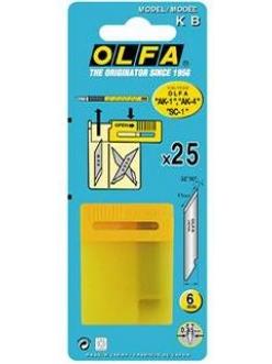 Запасные лезвия КВ для макетного дизайнерского ножа OLFA  AK-1, АК-4, SC-1(Япония)