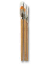 Кисти плоские с ровным краем, синтетика, набор из 3 шт., KR103B Stamperia (Италия)