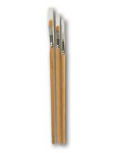 Кисти плоские со скошенным краем, синтетика, набор из 3 шт., Stamperia (Италия)