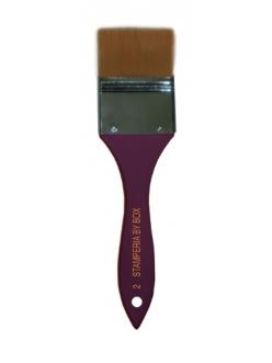Кисть-флейц синтетическая № 2 Stamperia, ширина 5 см