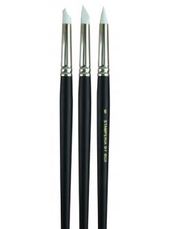 Набор кистей с резиновым кончиком для работы с моделирующими пастами, Stamperia
