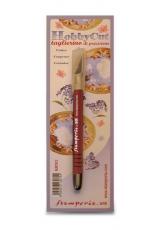 Нож макетный (цанговый) для фигурной резки бумаги и дизайнерских работ KRT02, Stamperia (Италия)