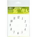 Циферблат для часов самоклеящийся круглый с арабскими цифрами PRONTY, 11 см