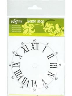 Циферблат для часов круглый на клеевой основе с римскими цифрами PRONTY, 11 см