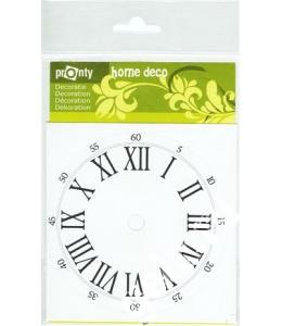 Циферблат для часов самоклеящийся круглый с римскими цифрами PRONTY, 11 см