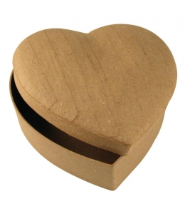 "Заготовка коробка из картона (папье-маше) ""Сердце"", 7х14х15 см, Rayher (Германия)"