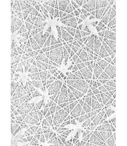 Рисовая перфорированная кружевная бумага, кленовый лист, белая, 50х70 см, Rayher