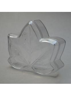 Заготовка ёлочной игрушки Кленовый листок, прозрачный пластик, 10 см