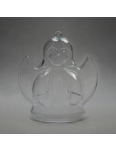Заготовка ёлочной игрушки Ангел, прозрачный пластик, 10 см