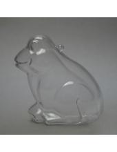Заготовка ёлочной игрушки Лягушка, прозрачный пластик, 9 см, Schiller-plastic (Германия)