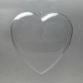 Заготовка ёлочной игрушки Сердце, прозрачный пластик, 8 см