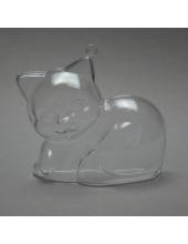 Заготовка ёлочной игрушки Котенок, прозрачный пластик, 10 см, Schiller-plastic (Германия)