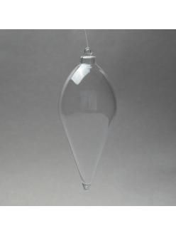 Заготовка ёлочной игрушки Сосулька, прозрачный пластик, 10 см