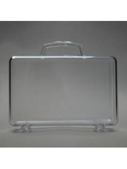 Заготовка ёлочной игрушки Чемодан, прозрачный пластик, 10 см
