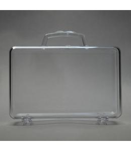 Заготовка ёлочной игрушки Чемодан, прозрачный пластик, 10 см, Schiller-plastic (Германия)
