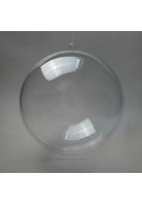 Заготовка ёлочный Шар, прозрачный пластик, 10 см