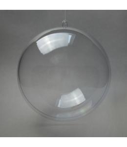 Заготовка ёлочный Шар, прозрачный пластик, 12 см, Германия