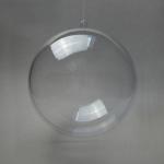 Заготовка ёлочный Шар, прозрачный пластик, 8 см