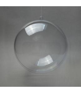 Заготовка ёлочный Шар, прозрачный пластик, 7 см, Германия